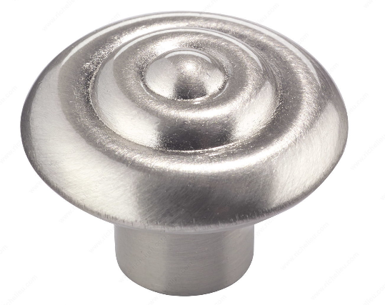 Richelieu Hardware 2391132195 - Traditional Metal Knob Brushed Nickel