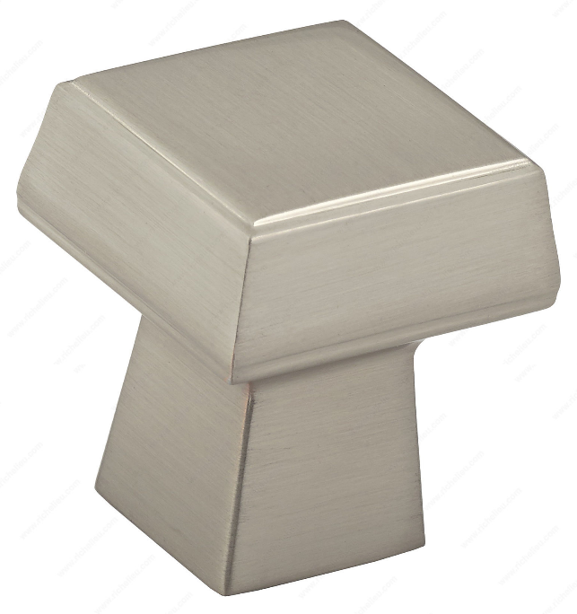 Richelieu Hardware 5623030195 - Contemporary Metal Knob Brushed Nickel