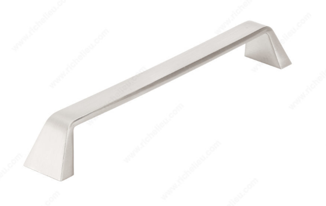 Richelieu Hardware 747192195 - Contemporary Metal Pull Brushed Nickel