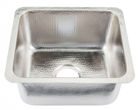Thompson Traders Sinks - Kitchen Bar & Prep - Rivera KPU-1715-BRN Hammered Nickel