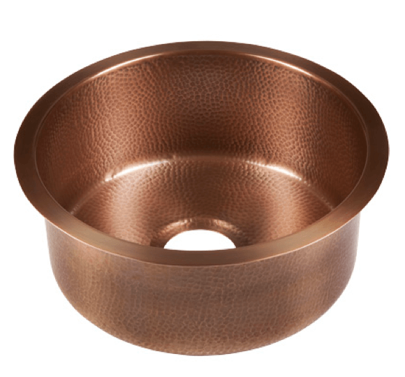 Thompson Traders Sinks - Kitchen Bar & Prep - Copper - Limited Edition Napoli Round PU-1708MA - Medium Antique Finish