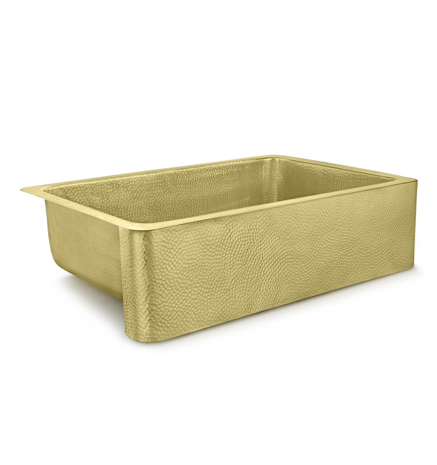 Thompson Traders Sinks - Kitchen Apron Front Sinks - Brass - Quiroga - KSA-3322HPB - Brass Finish