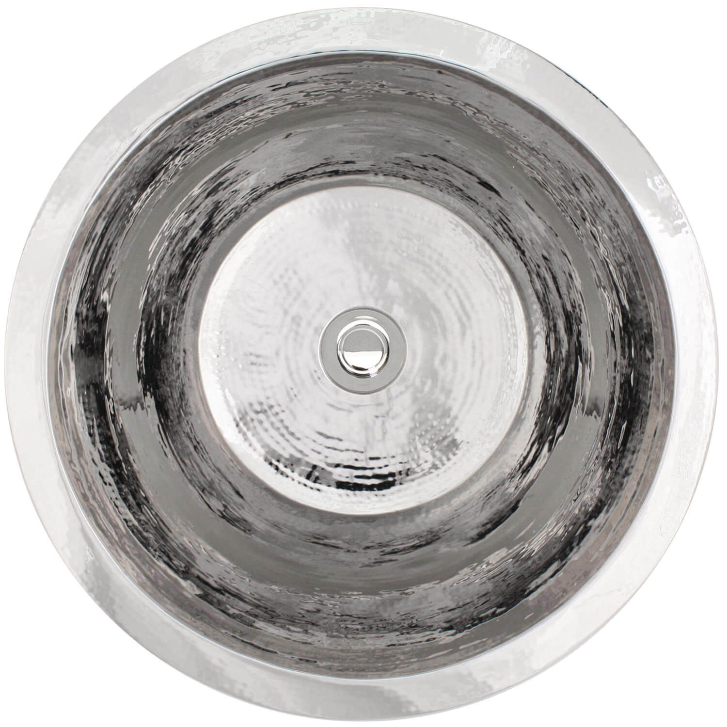"Linkasink Kitchen Bar Sinks - Stainless Steel - C016-PS Small Flat Round Sink - 2"" drain - Polished Stainless Steel"