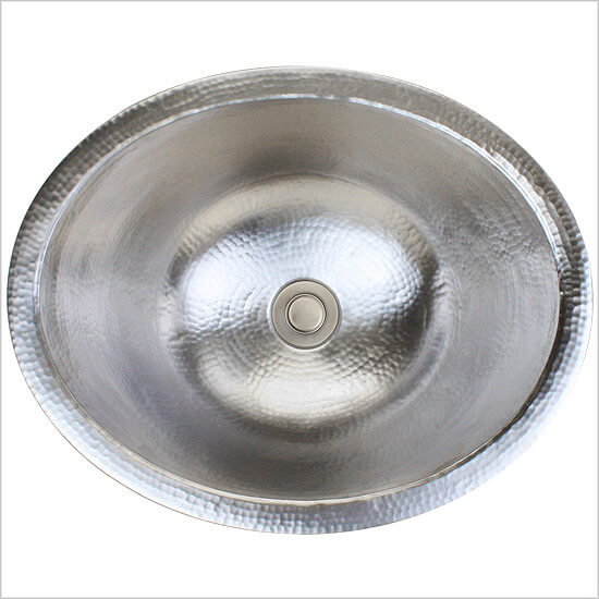 Linkasink Bathroom Sinks - Stainless Steel - C023-SS Small Oval Sink - Satin Stainless Steel