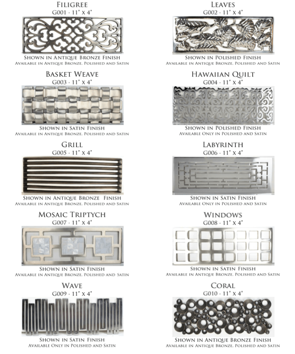Linkasink Sinks - Tiffany Sink Decorative Grates