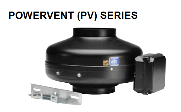 S&P Soler & Palau Inline Centrifugal Fans - PV PowerVent Series