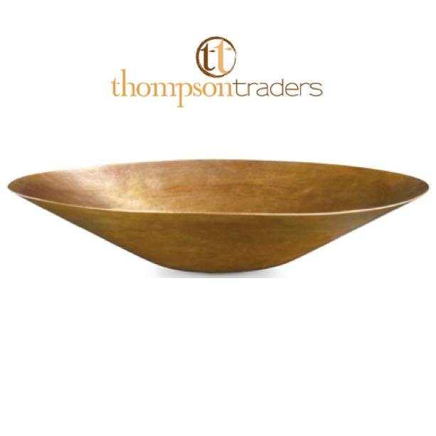 Thompson Traders Sinks - Bathroom Sinks - Satin Gold - Puebla CASG - Antique Satin Gold