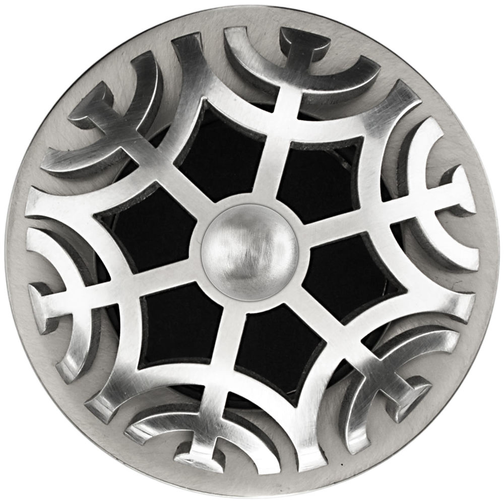 Linkasink Drain - Bathroom D011 SS Metal Maze 1.5 Grid Strainer Satin smooth