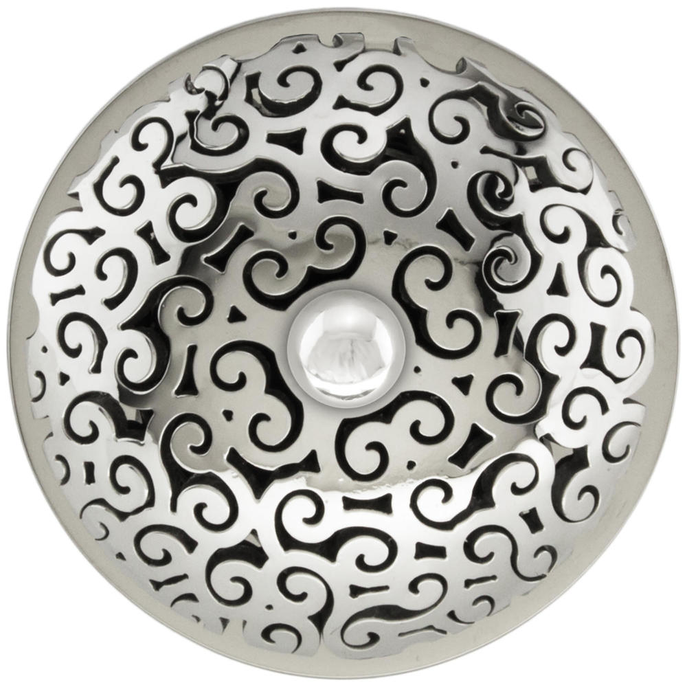 Linkasink Drain - Bathroom D016 PS Swirl 1.5 Grid Strainer Polished Smooth