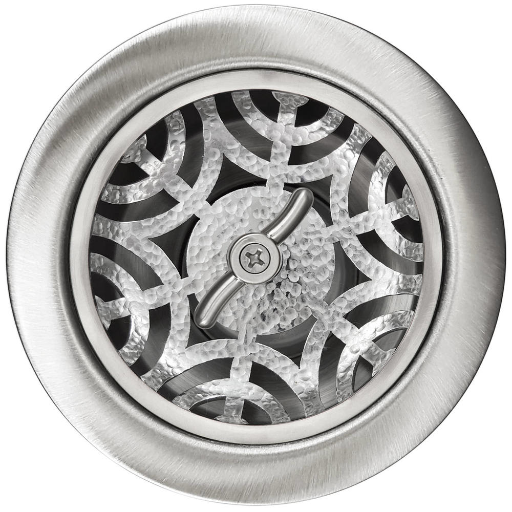 Linkasink Drain - Kitchen D051 SH Maze 3.5 Basket Strainer Satin Hammered