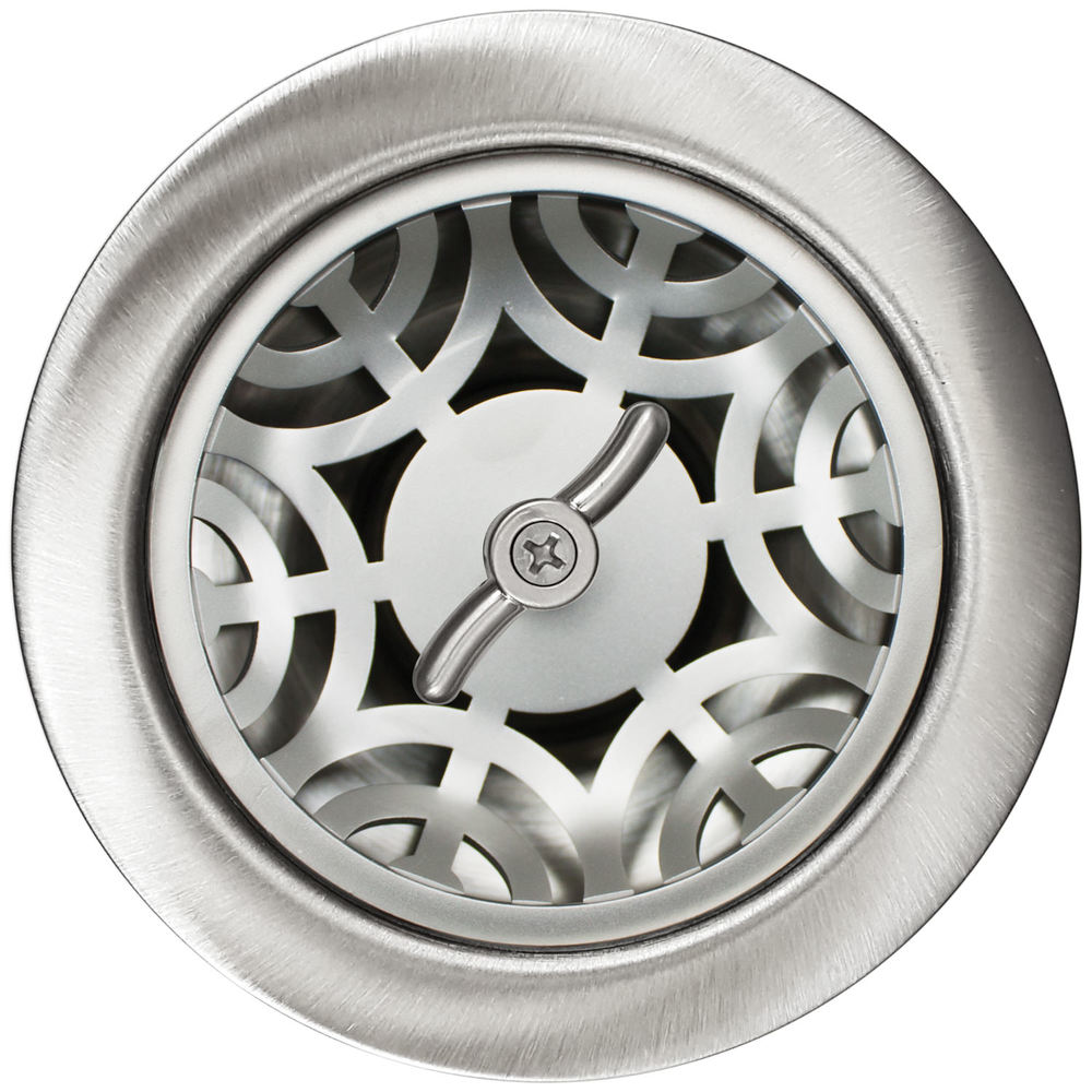 Linkasink Drain - Kitchen D051 SS Maze 3.5 Basket Strainer Satin Smooth