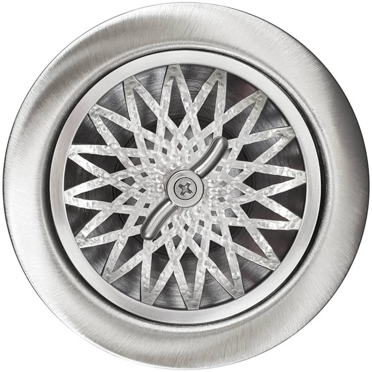 Linkasink Drain - Kitchen D055 SH Star 3.5 Basket Strainer Satin Hammered