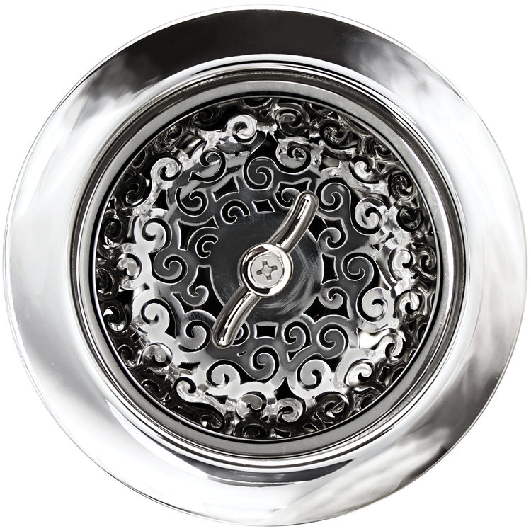 "Linkasink Drain - Kitchen D056 PS 3.5"" Swirl Basket Strainer Polished Smooth"