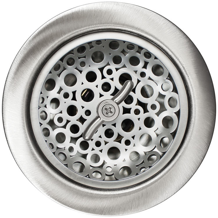 "Linkasink Drain - Kitchen D057 SS 3.5"" Loop Basket Strainer Satin Smooth"