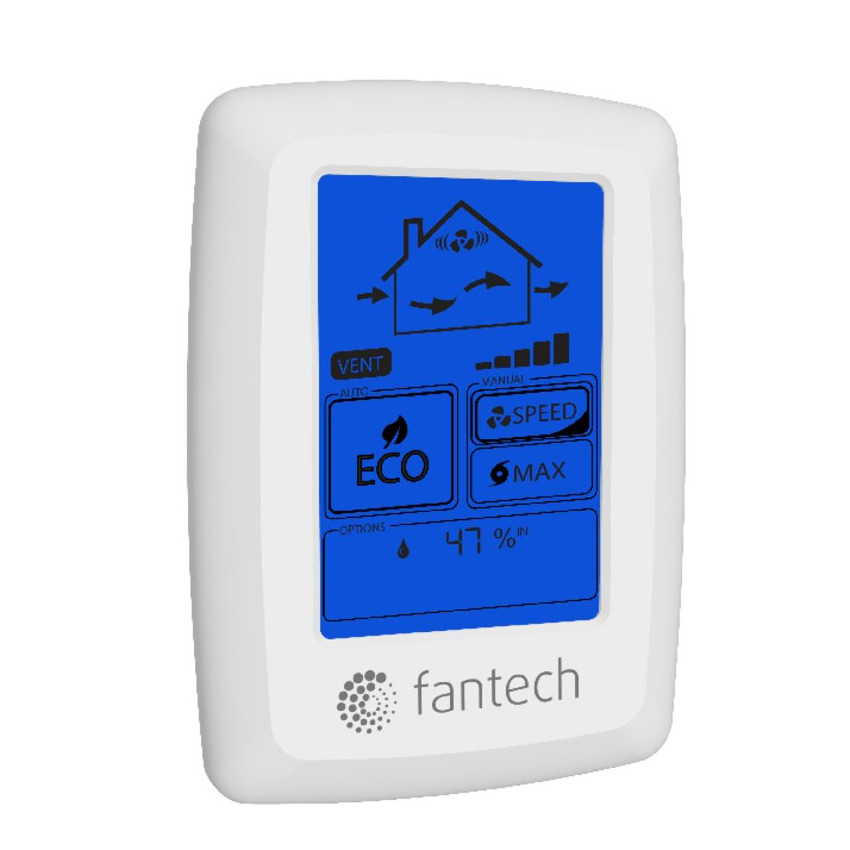 Fantech HRV/ERV Controls ECO-Touch Programmable Touch Screen Wall Control