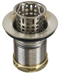 "Elite Bath Drains - EL710 - 2.5"" Brass Bar Prep Strainer Drain with Lift-Out Basket"