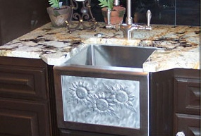 Elite Bath Kitchen Sinks Farmhouse - Stainless Steel SSB13 Little Payton Farmhouse Bar Sink - Includes Art Panel
