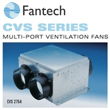 CVS Series Multiple Port Inline Fan
