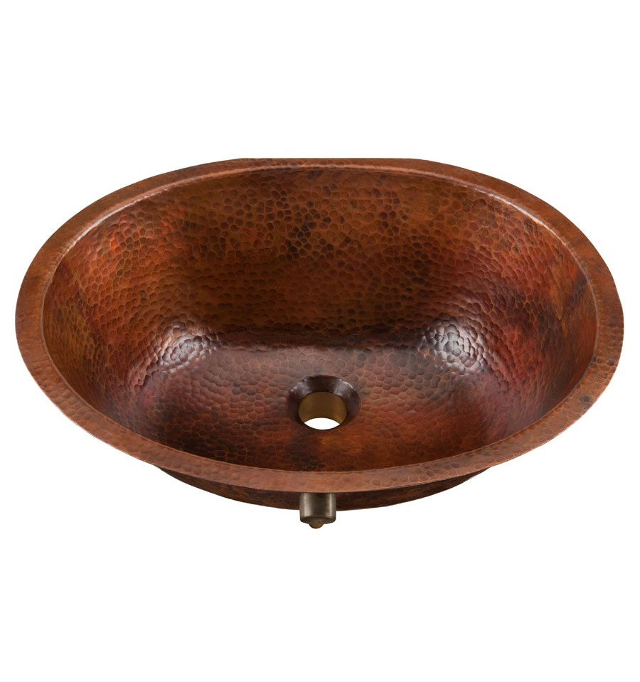 Thompson Traders Sinks - Bathroom Sinks - Copper - Uruapan BOU-1915BC - Aged Copper Finish