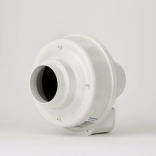 "Fantech FR 100 Inline Centrifugal Exhaust Fan - 4"" duct - 122 cfm - FR100"