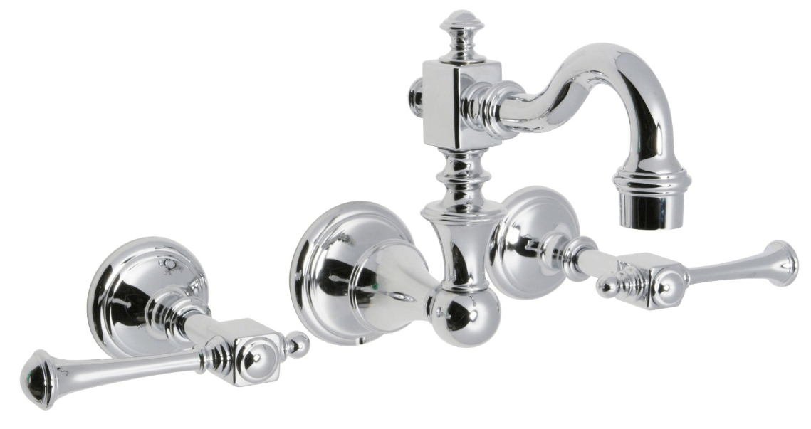 Huntington Brass Bathroom Faucets - Platinum Series - W4860301 - Monarch Wall Mount - Chrome