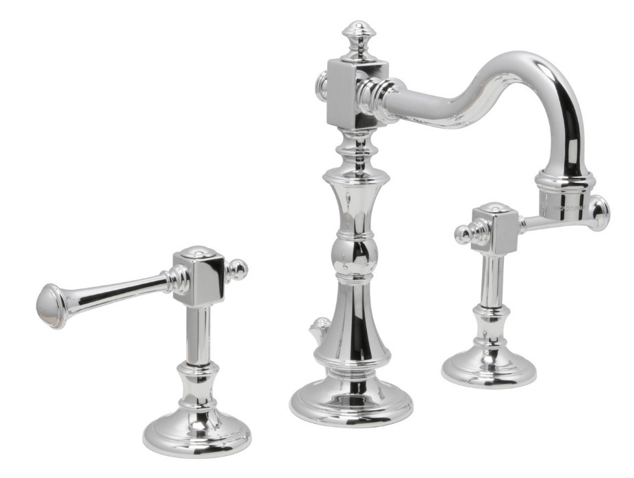 "Huntington Brass Bathroom Faucets - Platinum Series - W4560301-1 - Monarch 8"" Wide Spread - Chrome"
