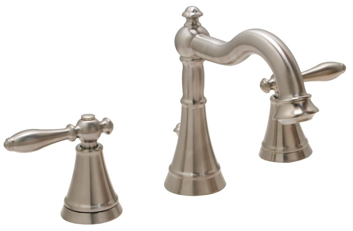 Huntington brass bathroom faucets decor series sherington 8 widespread w4561202 1 pvd satin nickel