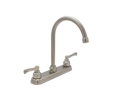 "Huntington Brass Kitchen Faucets - K2320702-Z - Sienna 8"" Center Kitchen Faucet - PVD Satin Nickel"