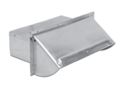 "Lambro Industries - Wall Caps - Aluminum 3.25"" x 10"" Builder Pack - Damper Spring Controlled Model 1060"