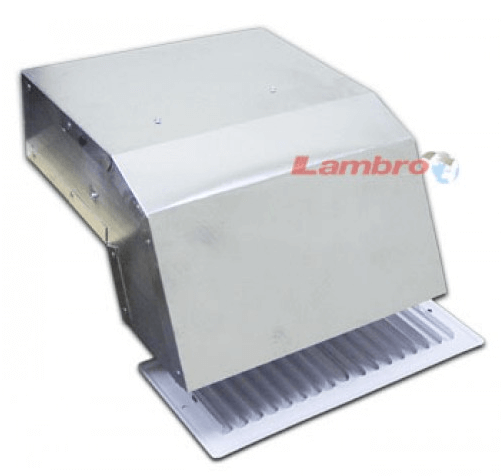 "Lambro Industries - Kitchen Range Hood Eave Vent - with 3.25"" x 10"" Grille - Model 140"