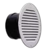 "Lambro Industries - Under Eave Vent White Plastic - 4"" Round - Model 155W"