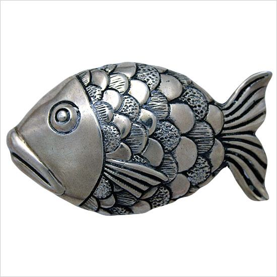 Linkasink Drain - Bathroom D103 Large Metal Fish Decorative Bathroom Sink Drain