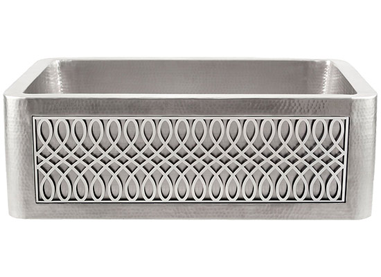 Linkasink Farmhouse Sinks   Linkasink C070 30 SS Stainless Steel Inset Apron  Front Sink