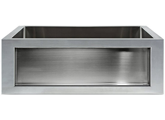 Linkasink Kitchen Farmhouse Sinks - Linkasink C071-30-SS Stainless Steel Inset Apron Front Sink - Smooth Finish - Inset Panel Sold Separately