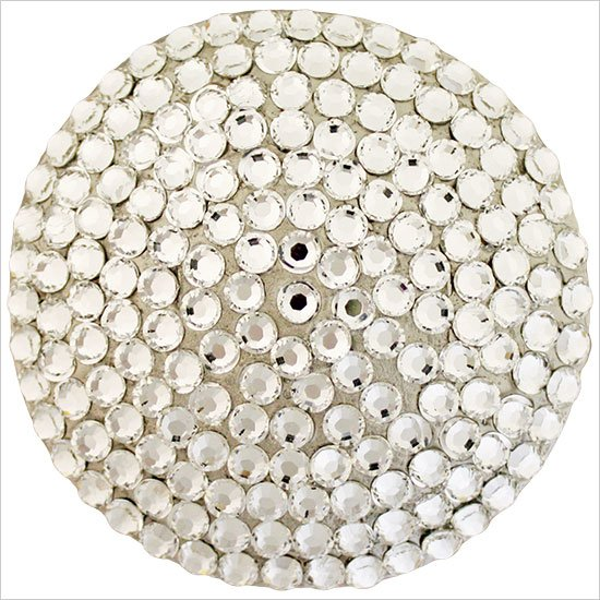 Linkasink Drain - Bathroom D602 Round with Swarovski Crystals Decorative Sink Drain