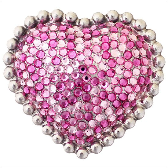 Linkasink Drain - Bathroom D603 Heart with Swarovski Crystals Decorative Sink Drain