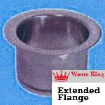 Waste King Accessories - 3140 - 3 Bolt Extended Flange - Polished Stainless Steel