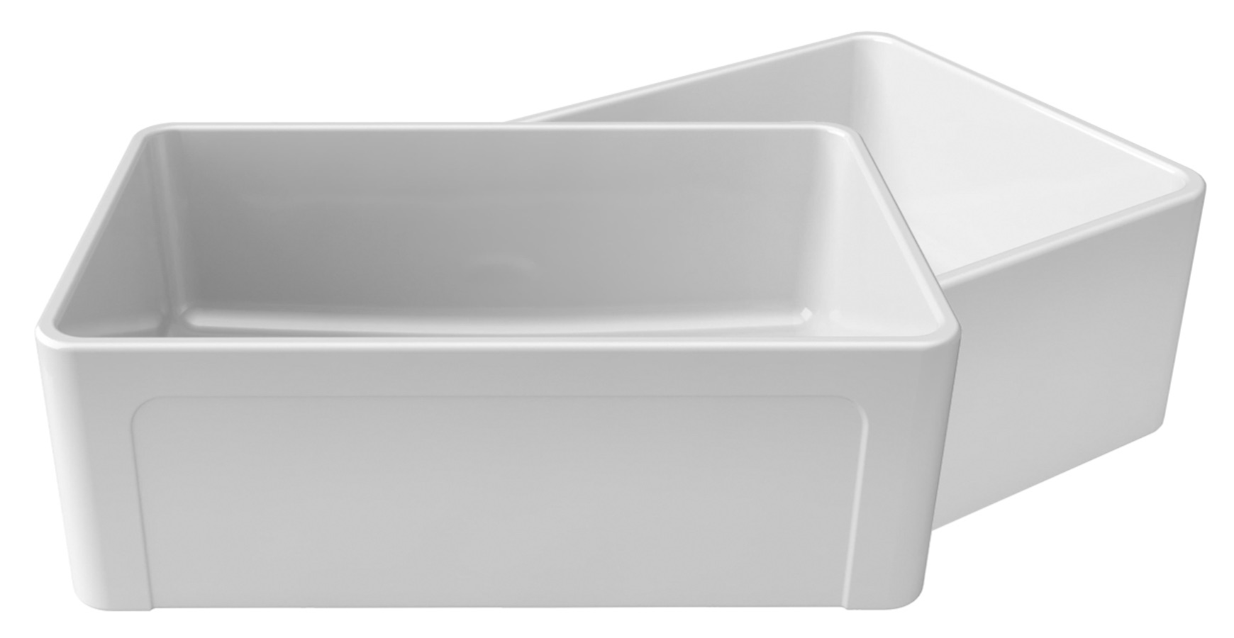 "LaToscana Kitchen Sinks - Fireclay Farmhouse - LTW3019W - 30"" Reversible Fireclay Sink - White"