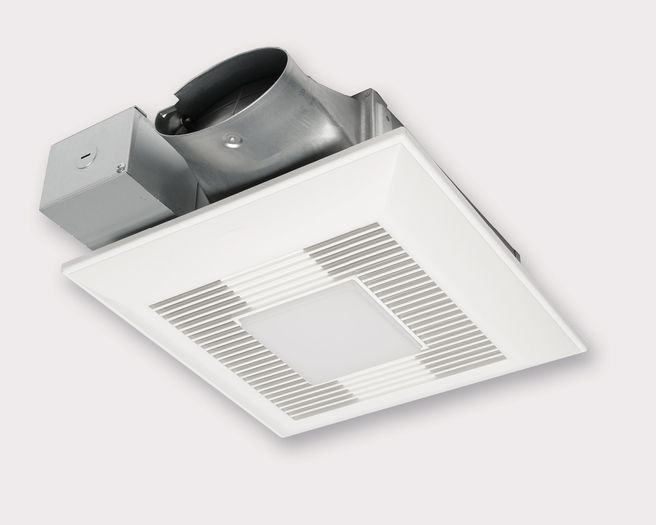 Panasonic Fans - WhisperValue Lite - FV-0510VSCL1 Bathroom Exhaust Fan with Light - 50-80-100 CFM - 4 Inch Oval Duct