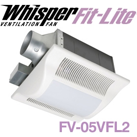Panasonic Fans - WhisperFit FV-05VFL2 Lite Bathroom Fan with Light - 50 CFM -