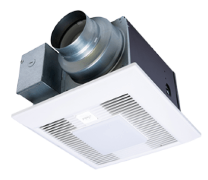 "Panasonic Fans - WhisperGreen Select - FV-0511VKSL2 Bathroom Exhaust Fan - 30-110 cfm - Multi-Speed - 4"" & 6"" Duct + LED Light"
