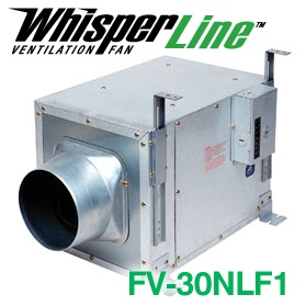 panasonic fans whisperline fv30nlf1 inline bathroom exhaust fan 340 cfm 17 sones 6 inch duct