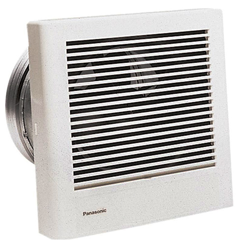 Panasonic Fans - WhisperWall - FV-08WQ1 Wall Mounted Fan - 70 cfm - 1.1 Sones - 8 Inch Duct