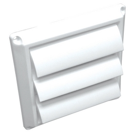 "Lambro Industries - Wall Caps - Polypropylene Plastic 5"" White Louver Vent - Model 360W"