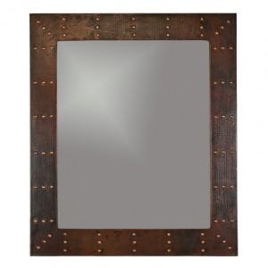 Premier Copper Products - MFREC3631 - 36″ Hand Hammered Rectangle Copper Mirror