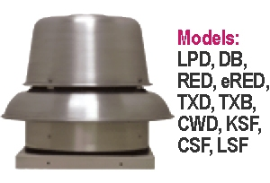 S&P Soler & Palau Commercial - Centrifugal Roof & Sidewall Ventilators