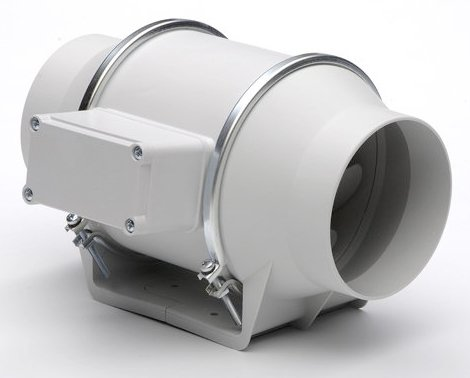 "S&P Soler & Palau Ventilation Fans - TD-100 4"" Duct Inline Mixed Flow Duct Ventilation Fan - H 101 cfm L 97 cfm"