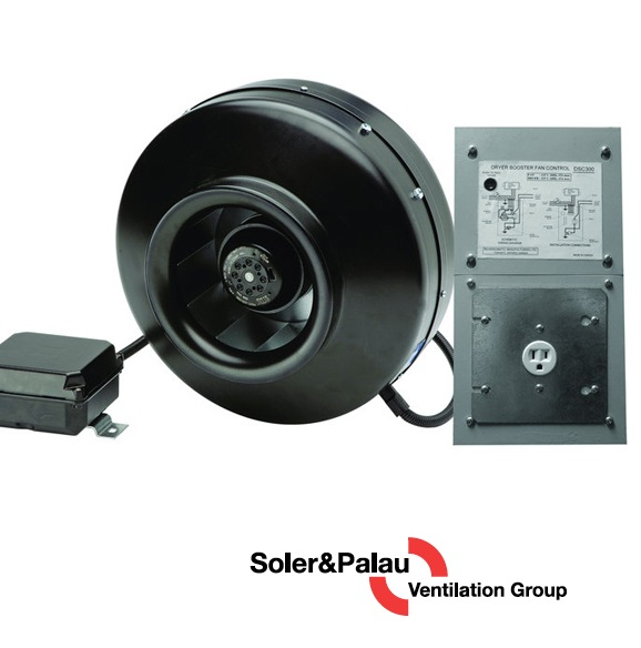 S&P Soler & Palau Ventilation Fans - Dryer Boosting - Dryer Booster Kit IL-115 - PV-100x and 115v Interlock (Gas)