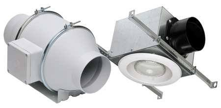 "S&P Soler & Palau Ventilation Fans - KIT-TD100XL 4"" Duct Inline Mixed Flow Ventilation Fan Kit - H 135 cfm, L 100 cfm LED Light"