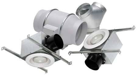 "S&P Soler & Palau Ventilation Fans - KIT-TD150F 6"" Duct Inline Mixed Flow Ventilation Fan Kit - H 293 L 218 cfm Fluorescent Bulb"